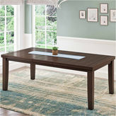 Asstd National Brand Warm Brown Dining Table with Hidden Extendable Leaf