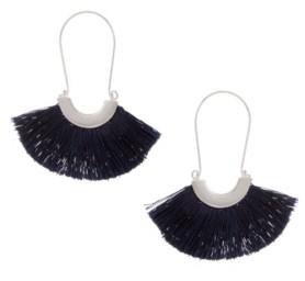The Sak Silver-Tone Thread U Hoop Earrings