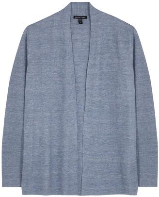 Eileen Fisher Blue linen cardigan