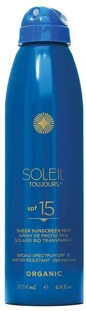 Soleil Toujours Organic Sheer Sunscreen Mist SPF15