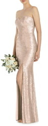 Dessy Collection Elle Strapless Sequin Trumpet Gown