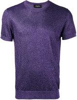 DSQUARED2 short sleeve lurex knit - men - Cotton/Polyester/Viscose - L