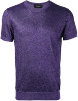 DSQUARED2 short sleeve lurex knit - men - Cotton/Polyester/Viscose - XS