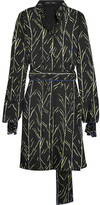 Proenza Schouler Printed Silk-twill Dress - Black
