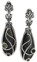 Mother of Pearl Carolyn Pollack Sterling Mother-of-Pearl and Peridot Dangle Earrings