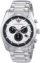 Giorgio Armani AR6007 43mm Silver Steel Bracelet & Case Mineral Men's Watch