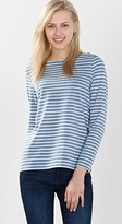 Esprit Long sleeve top in airy blended linen