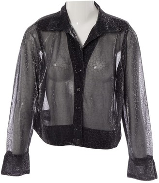 N. Non Signé / Unsigned Non Signe / Unsigned \N Silver Polyester Tops