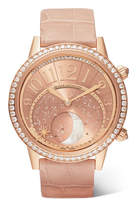 Jaeger-LeCoultre Rendez-vous Moon 36 Alligator, Rose Gold And Diamond Watch