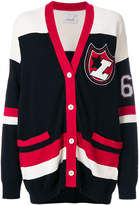 Laneus embroidered patch cardigan