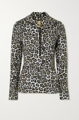 Goldbergh Lilja Leopard-print Stretch-jersey Top - Brown