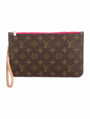 Louis Vuitton Monogram Neverfull Pochette Brown