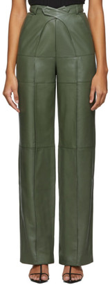 Situationist Green Leather Pants