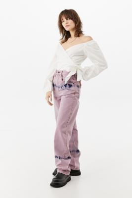 BDG Lilac Tie-Dye Modern Boyfriend Jeans - Purple 24 at Urban Outfitters