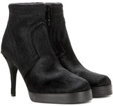 Rick Owens Classic Calf Hair Ankle Boots