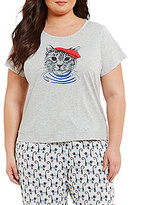 Sleep Sense Plus French Cat Jersey Sleep Top