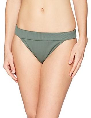 Mae Amazon Brand Women's Swimwear Banded Cheeky Bikini Bottom