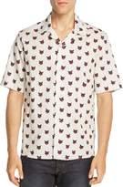 Diesel S-Tigg Regular Fit Wild Cat Print Button-Down Shirt