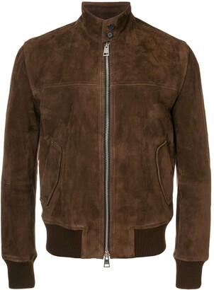 Ami suede zipped jacket Harrington collar
