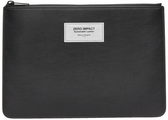 Maison Margiela Black Zero Impact Leather Pouch