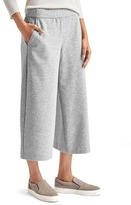 Gap Wide-leg crop brushed pants