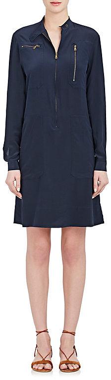 Tomas Maier WOMEN'S SILK CRÊPE DE CHINE TUNIC DRESS