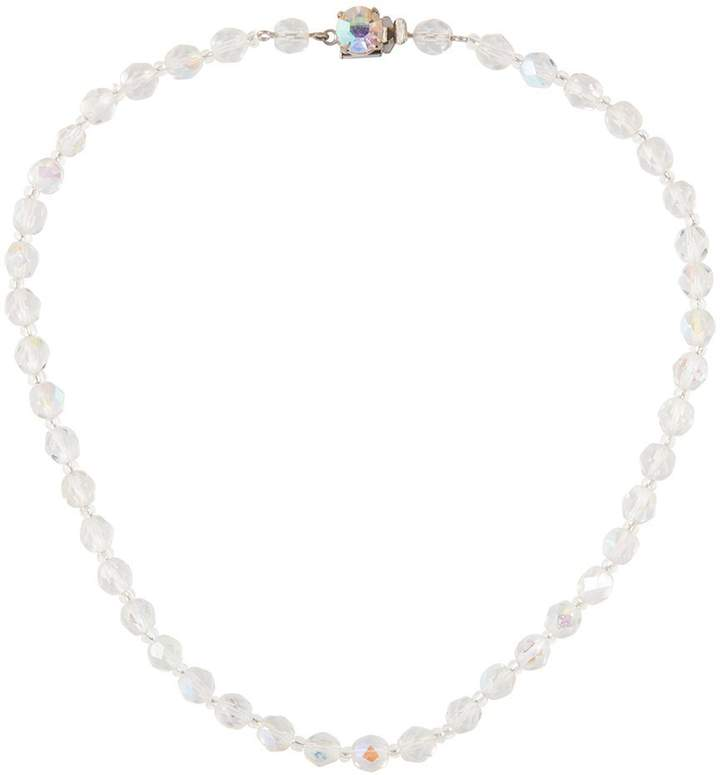 a0efba212b715 1980s Aurora Borealis Crystal Necklace