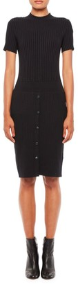 Emporio Armani Button-Front Short-Sleeve Dress