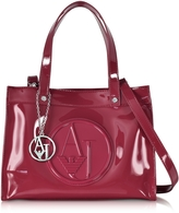 Armani Jeans Signature Faux Patent Leather Tote