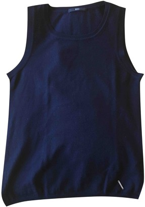 BOSS Navy Wool Top for Women
