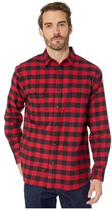 Dickies Long Sleeve Flex Flannel Shirt (Red/Black Buffalo Plaid) Men's Clothing
