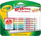 Crayola 6Ct Fineline Washable Dry Erase Markers