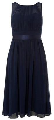 Dorothy Perkins Womens **Showcase Petite Navy 'Bethany' Midi Skater Dress