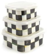 Mackenzie Childs MacKenzie-Childs Courtly Check Enamel Storage