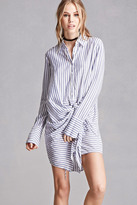 Forever 21 FOREVER 21+ Striped Mini Shirt Dress
