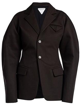 Bottega Veneta Canvas Puff-Sleeve Jacket