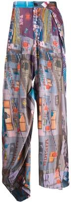 Duoltd Pleated Wide Leg Trousers