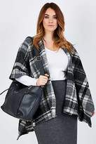 NEW Belle bird Womens Ponchos Belle Check Cape Size OneSize Check