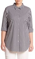 Lafayette 148 New York, Plus Size Paget Gingham Blouse