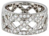 Tiffany & Co. Platinum Diamond X Band