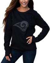 Unbranded Women's Cuce Black Los Angeles Rams Halfback Fleece Pullover Sweatshirt