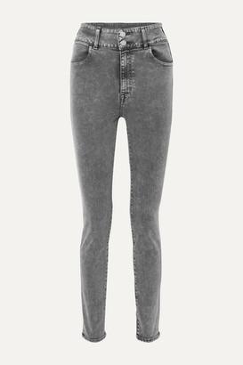 J Brand +elsa Hosk Saturday High-rise Skinny Jeans - Black