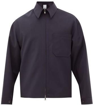 Deveaux Patch Pocket Technical-crepe Jacket - Mens - Navy