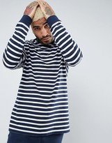 Asos Long Sleeve Oversized T-Shirt With Stripes And Rib Cuff