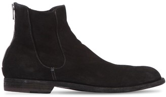 Officine Creative Washed Suede Cropped Boots