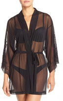 Natori Ophelia Sheer Mesh Short Robe