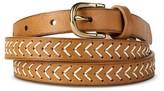 Merona Women's Skinny Braided Detail Belt Tan