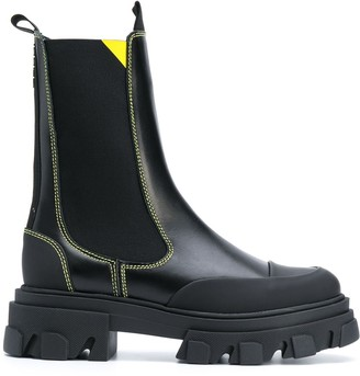 Ganni chunky-sole Chelsea boots