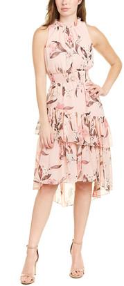 Eliza J Ruffled Midi Dress