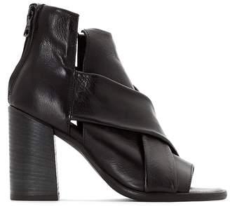 Mjus Santorini Square Heel Leather Sandals